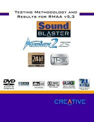 SOUND BLASTER® AUDIGY 2 ZS™ RMAA - PCTuning