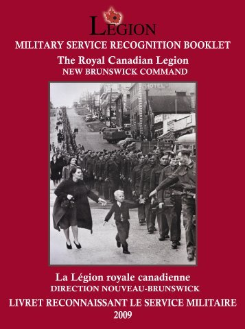 Lest We Forget - Royal Canadian Legion New Brunswick Command