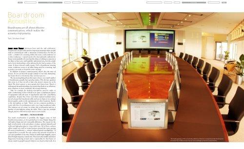 Boardroom Acoustics Pdf Sontext Acoustic Panels