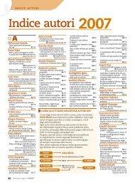 Indice autori 2007 - L'Informatore Agrario