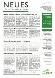 Newsletter Nr. 2/2007 - Wigos