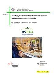 Absatzwege für landwirtschaftliche Spezialitäten - Sozial ...