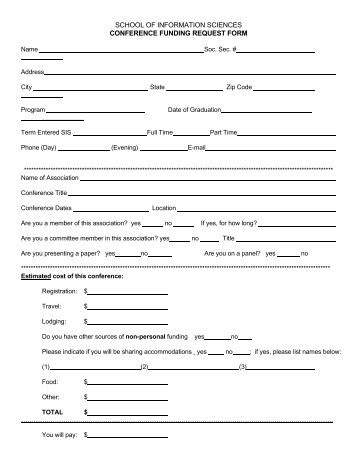 Conference Funding Request Form - UCLA