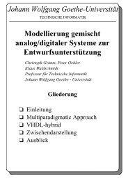 Johann Wolfgang Goethe-Universität - Technische Informatik an der ...