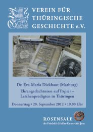 Dr. Eva-Maria Dickhaut (Marburg) - Verein für Thüringische ...