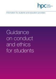 Guidance on conduct and ethics