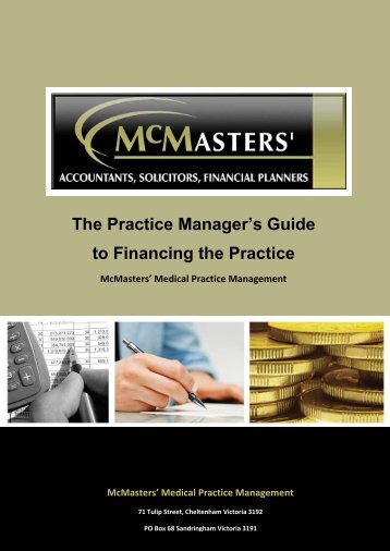 The Practice Manager's Guide to Financing the Practice