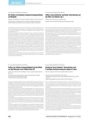 Abstracts 33-64 - Deutsche Zeitschrift für Sportmedizin