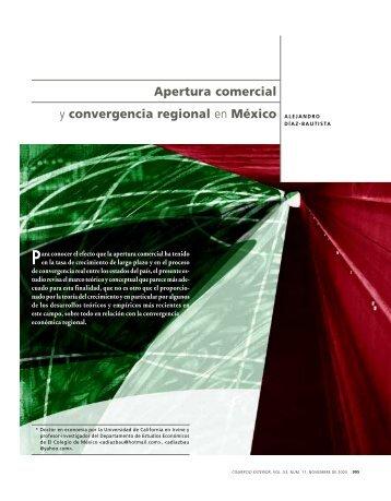 Apertura comercial y convergencia regional en México - revista de ...