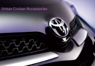 Urban Cruiser Accessories - Toyota