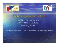 Routing Explored with IPv6 - IPv6 Summit, Inc.