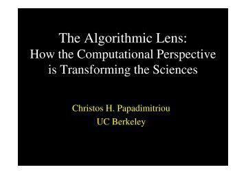 The Algorithmic Lens: