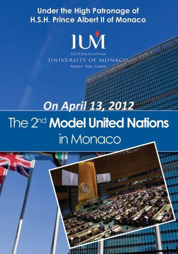 The 2nd Model United Nations in Monaco - eCampus - IUM