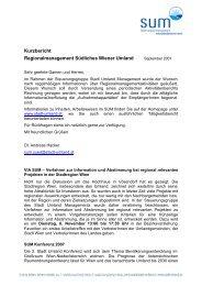 Kurzbericht - Stadt-Umland Management