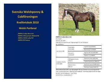 2010 - Svenska Welshponny & Cobföreningen