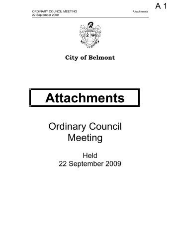 Attachments - City Of Belmont