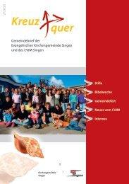 2/2010 Kreuz quer - Evangelische Kirchengemeinde Singen