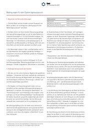Bedingungen für den Datenträgeraustausch