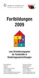 Fortbildungen 2009 - Institut für Soziale Berufe
