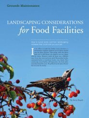 Landscaping Considertions for Food Facilities