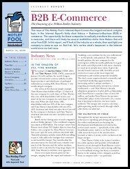 Internet Report on B2B E-Commerce