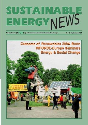 SEN 46 pdf - International Network for Sustainable Energy