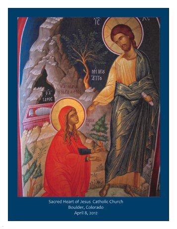 Sacred Heart of Jesus Catholic Church Boulder, Colorado April 8 ...
