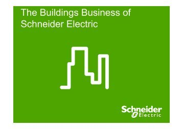 Schneider Electric's Buildings Business presentation PDF 1.91MB