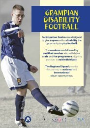 Grampian Disability Football Flyer 2009 - Scottish Football Association
