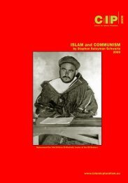 ISLAM and COMMUNISM - Center for Islamic Pluralism
