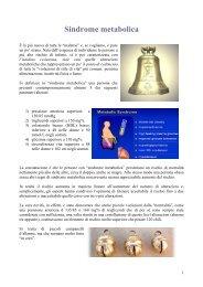 Sindrome metabolica - Dieta della salute - Dott. Fabrizio MODA