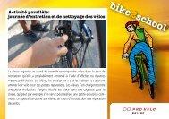 Atelier technique (nettoyage/réparation) - Bike2school