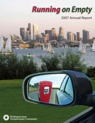 2007 Commission Annual Report - Washington State Transportation ...