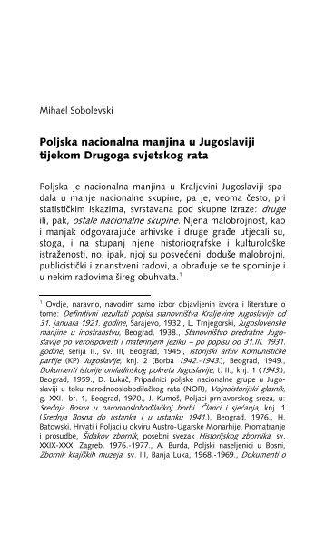 1.3.4.B. Poljska nacionalna manjina u Jugoslaviji tijekom Drugoga ...