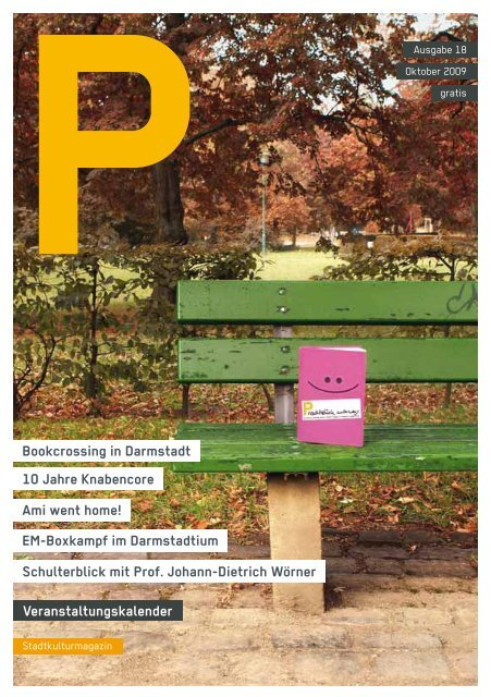 Veranstaltungskalender Bookcrossing in Darmstadt ... - P-Magazin
