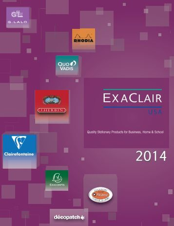 Exaclair 2013 Catalog | Quality Stationery Products ... - Exaclair, Inc.