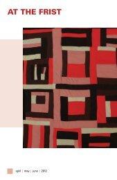 April–June 2012 Newsletter - Frist Center for the Visual Arts