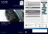 VGN-TX37GP/B - Sony Style