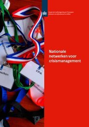 Nationale netwerken voor crisismanagement - Inspectie ...