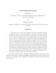 Astronomical Spectroscopy - Physics - University of Cincinnati