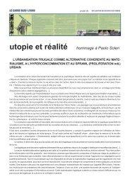 utopie et réalité  hommage à Paolo Soleri - Le Carré Bleu