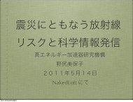 高エネルギー加速器研究機構 野尻美保子 2011年 ... - KEK研究情報Web