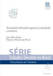 Economia informal - Organização Internacional do Trabalho