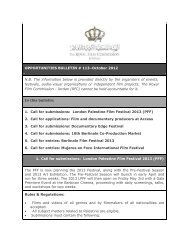 Opportunities Bulletins # 113 October - The Royal Film Commission ...