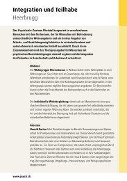 Download Flyer Integration und Teilhabe - Psychiatrie-Dienste Süd