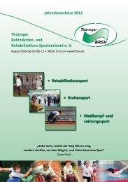 Aus- und Fortbildung im TBRSV eV - Verlag Volker Herrmann ...