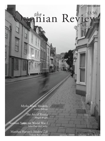 of books - The Oxonian Review