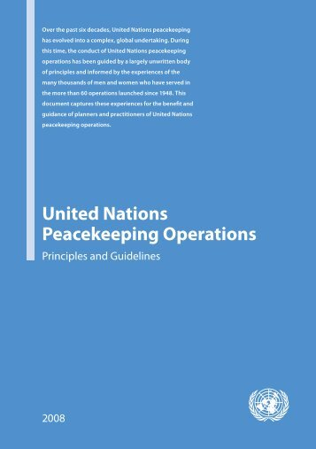 United Nations Peacekeeping Operations - African Conference of ...