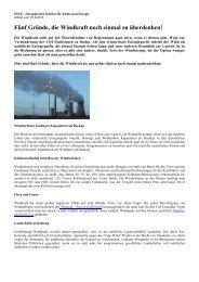 Fünf Gründe noch einmal über Windkraft nachzudenken - BI-Knoten