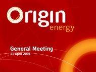 General Meeting - Origin Energy